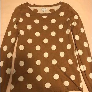 Old navy polka dot sweater